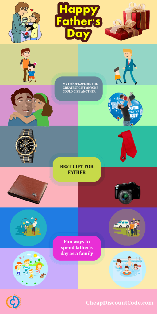Infographic - The Best Gift ideas and Activity for kids - Father's Day Special