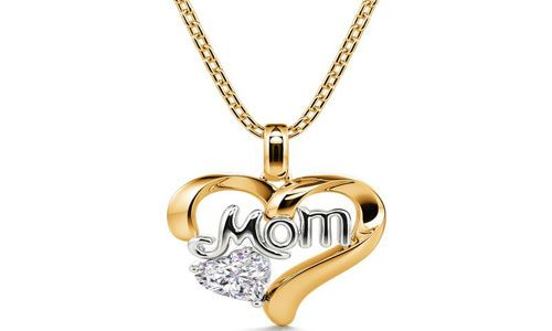 I carry your Heart with Me: Mom love heart sterling silver necklace
